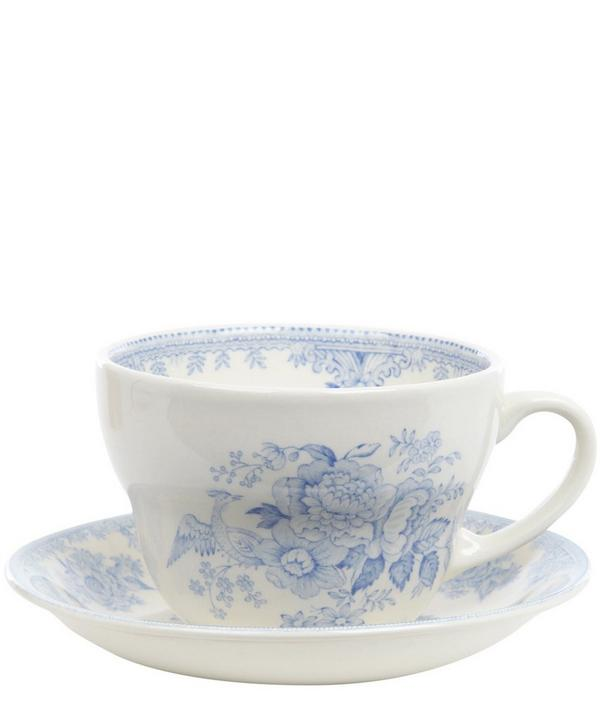 Large Asiatic Print Teacup and Saucer