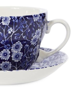 Calico Earthenware Breakfast Cup and Saucer