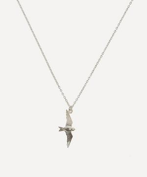 Silver Flying Swallow Necklace