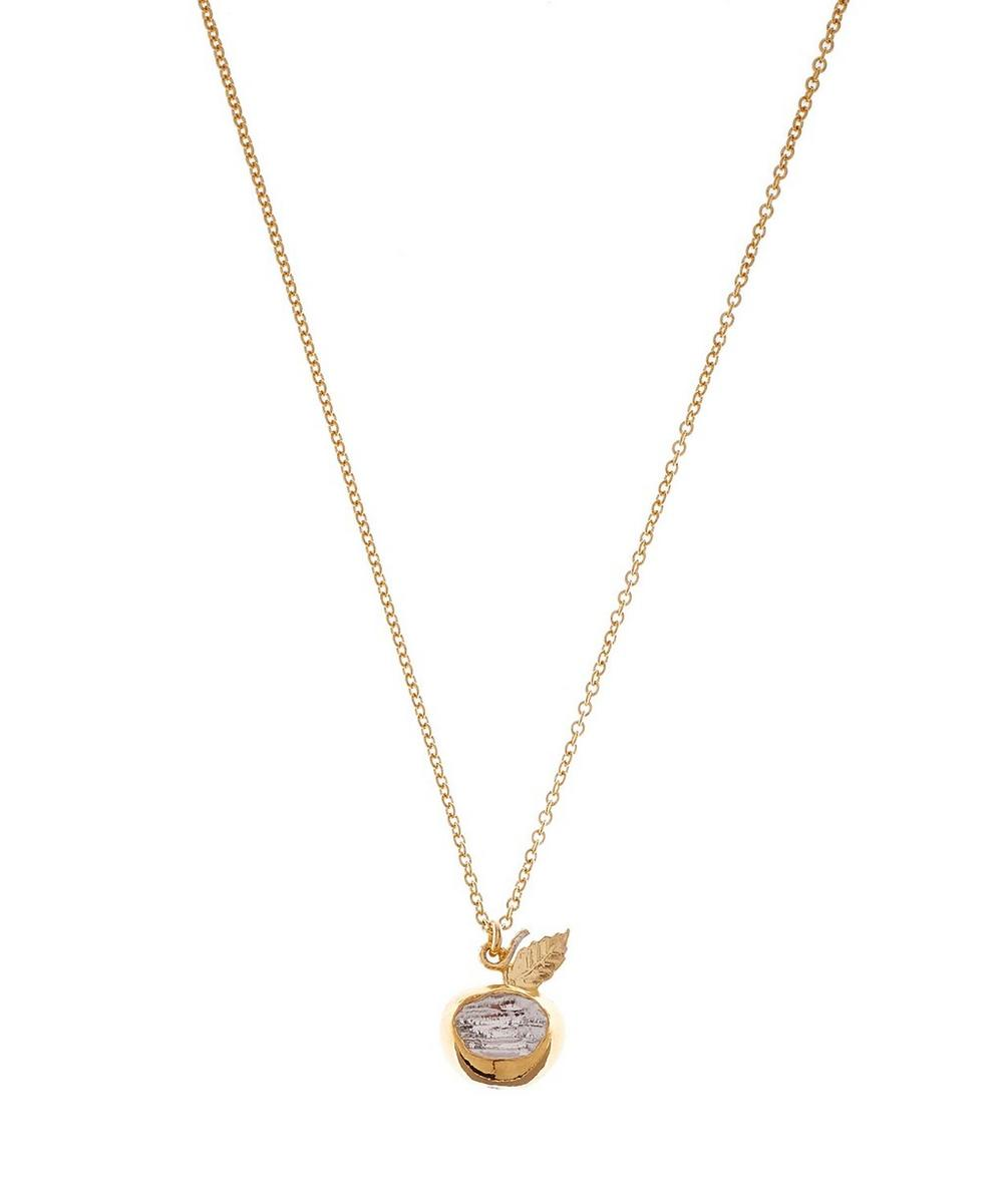 Gold-Plated Apple Necklace