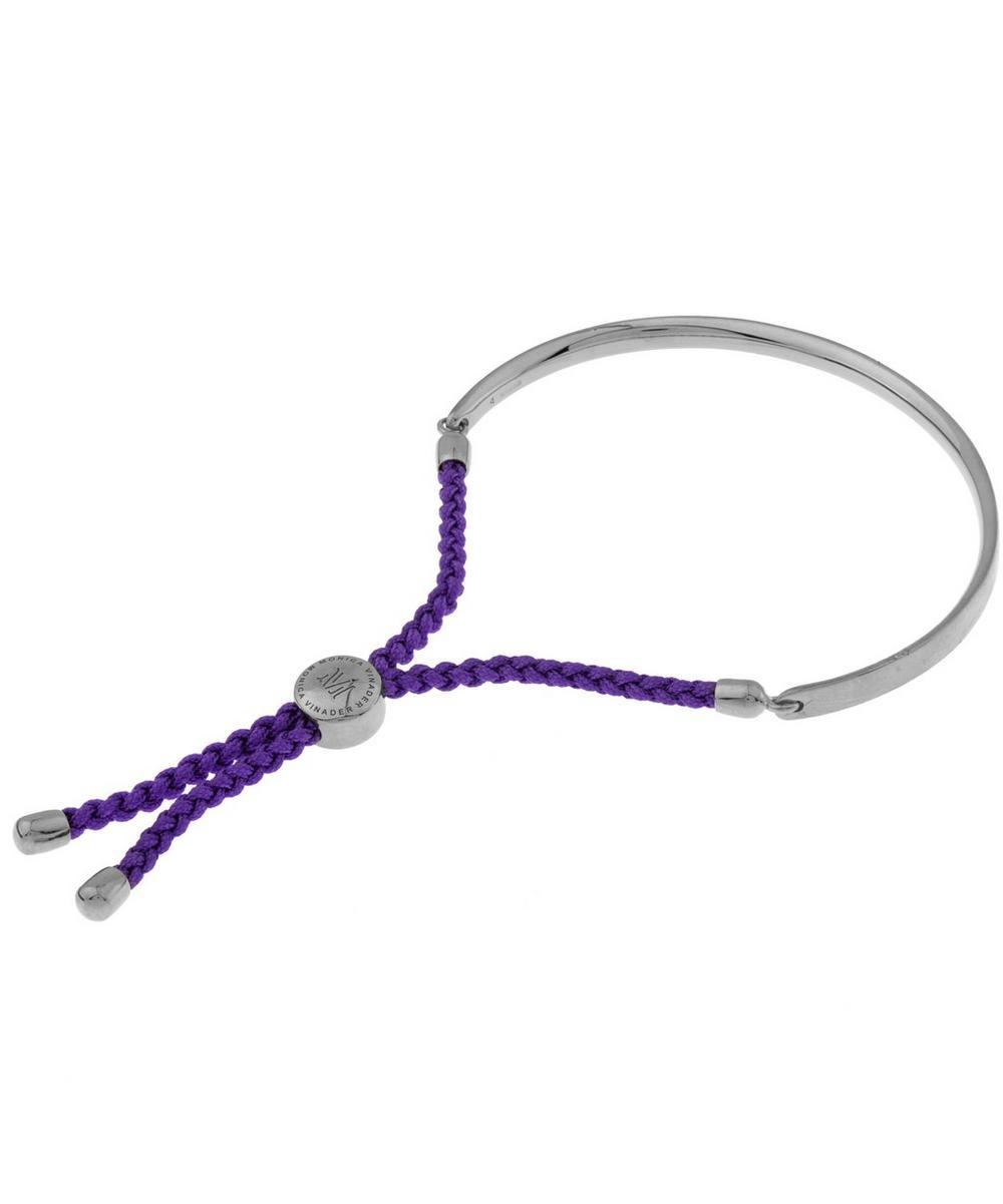 Sterling Silver Black Cord Fiji Bracelet