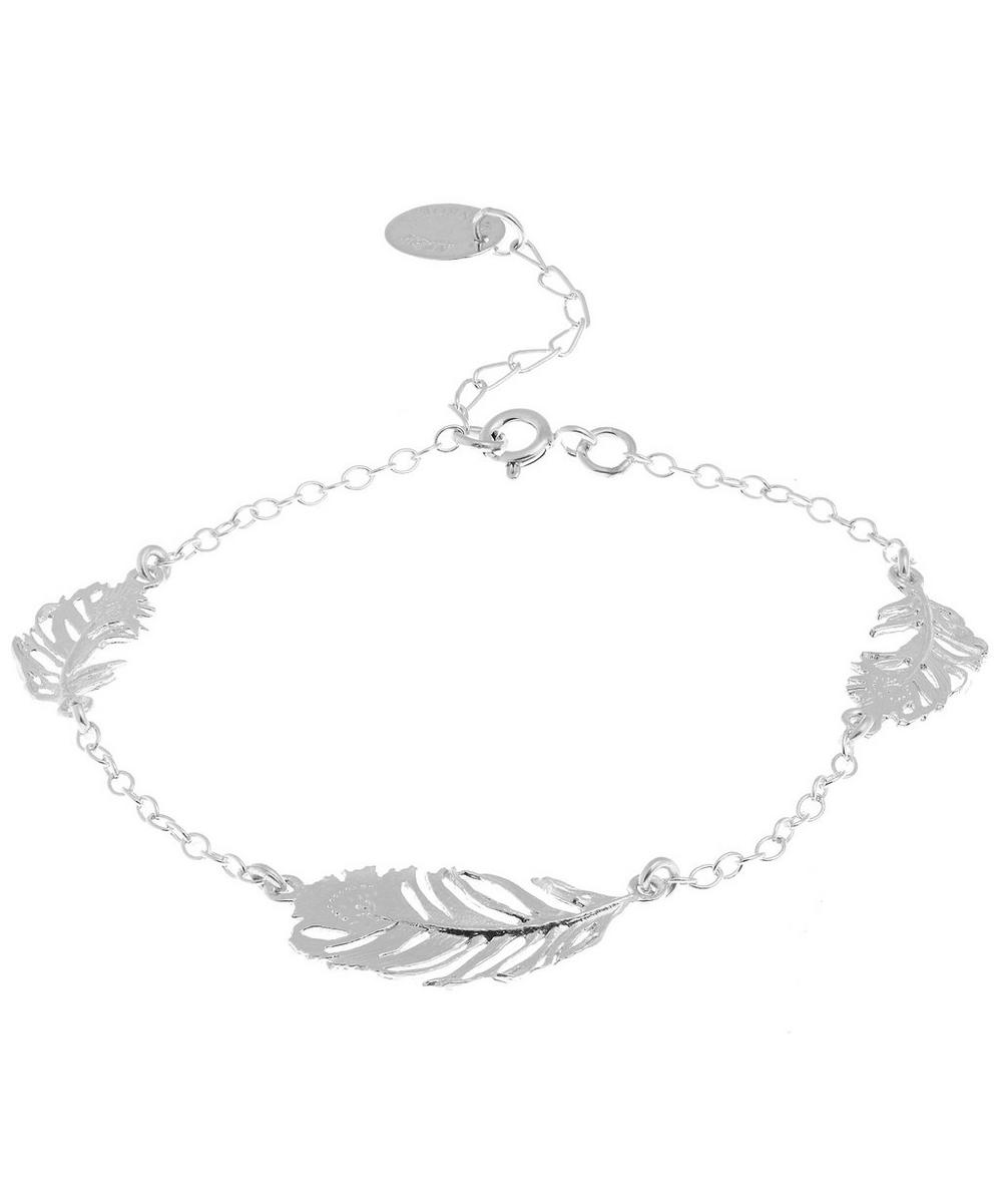 Three Peacock Feather Bracelet
