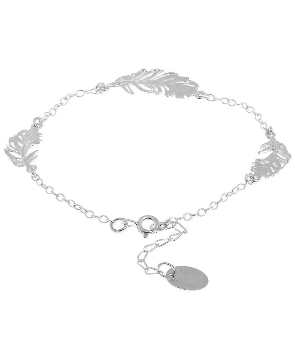 Three Peacock Feather Bracelet