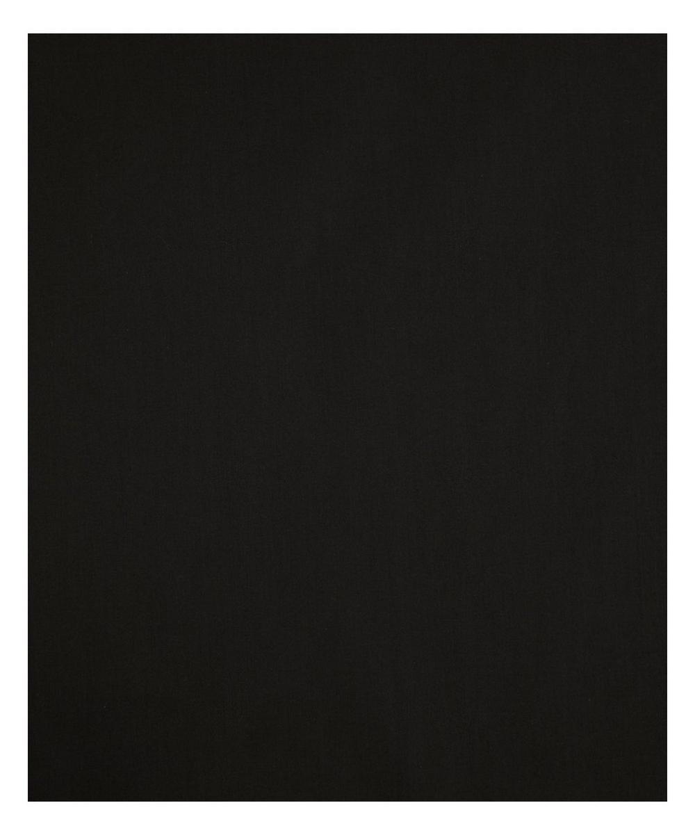 Black Plain Tana Lawn Cotton