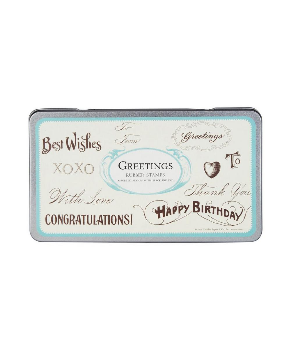 Vintage Rubber Greetings Stamps