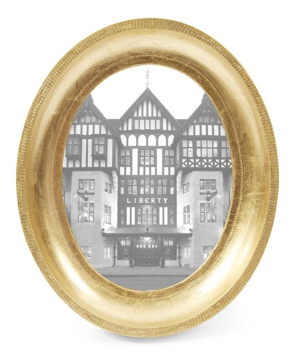 Gold Leaf Antico Oval Frame
