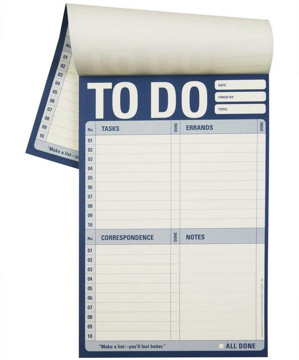 To Do List Notepad