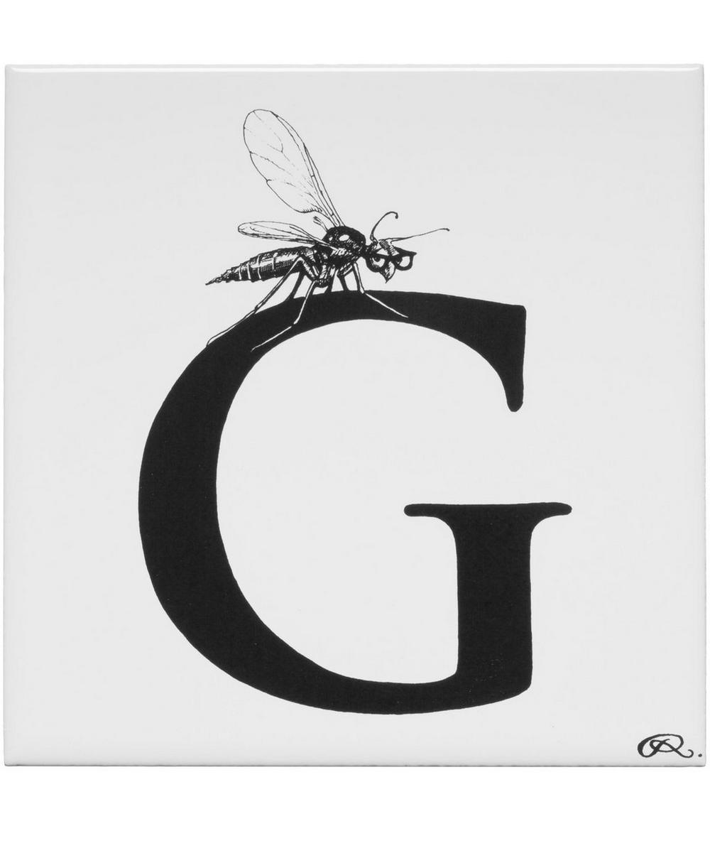 Gnat With Glasses Letter G Tile