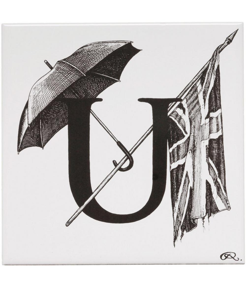Union Of Umbrellas Letter U Tile