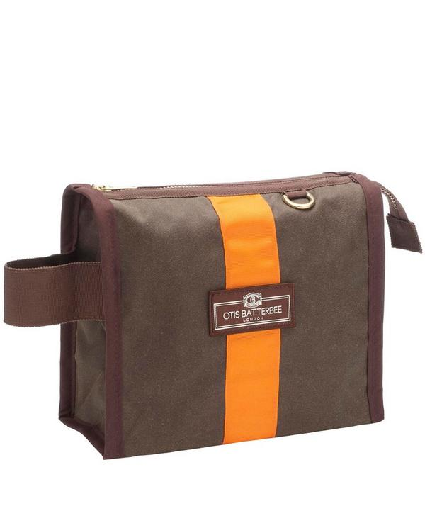 Small Waxed Grand Tour Wash Bag