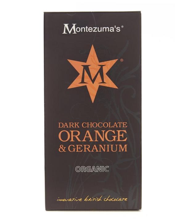 Organic Dark Chocolate Orange and Geranium Bar