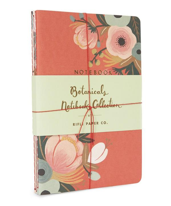 Set of Three Botanical Notebooks