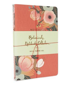 Set of Three Botanical Notebooks