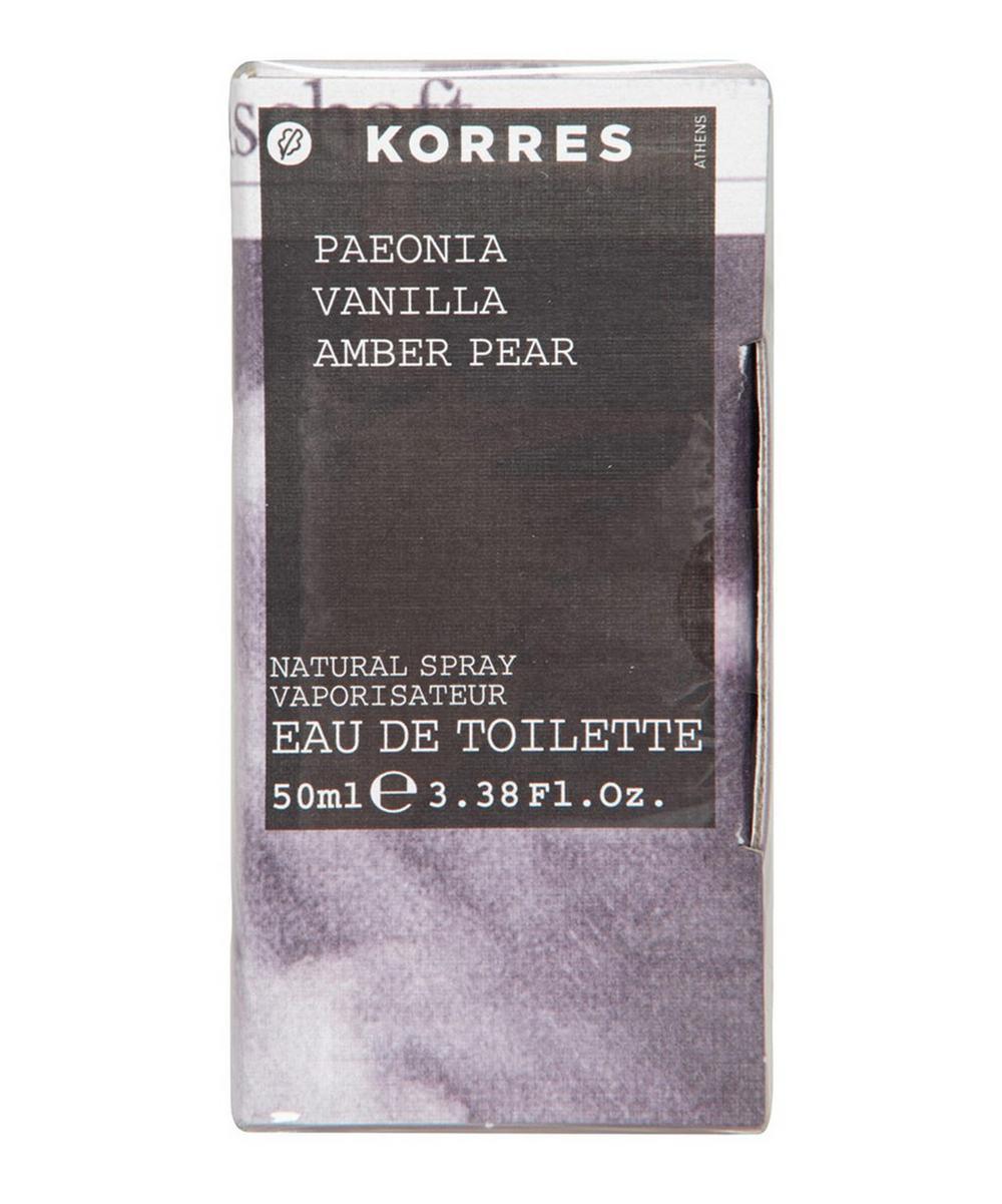 Paeonia Vanilla Amber Pear Eau de Toilette 50ml