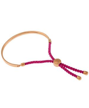 Rose Gold Vermeil Cerise Cord Fiji Bracelet
