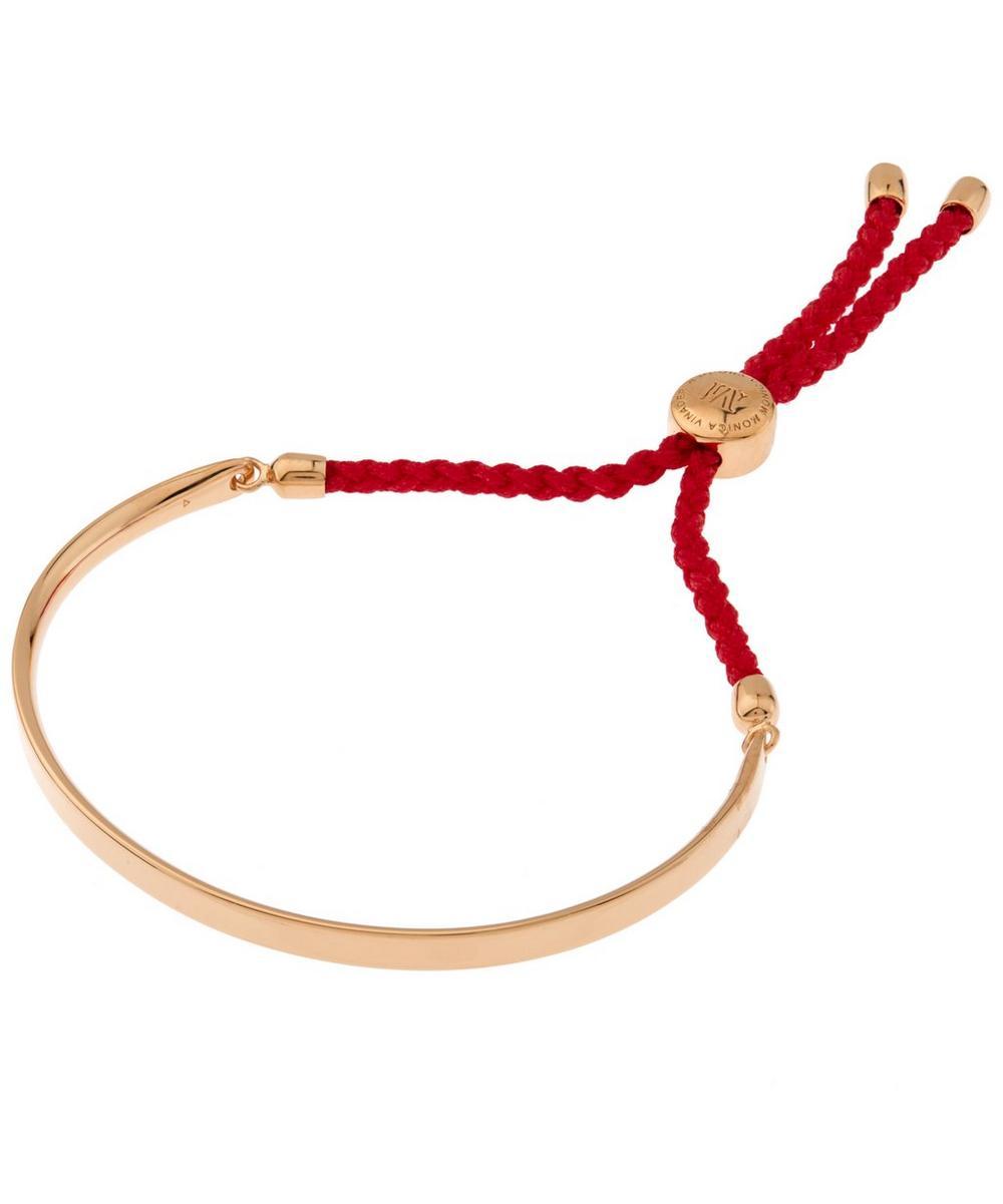 Rose Gold Vermeil Coral Cord Fiji Bracelet