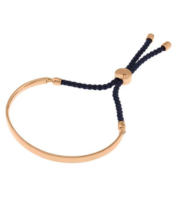 Rose Gold Vermeil Navy Cord Fiji Bracelet