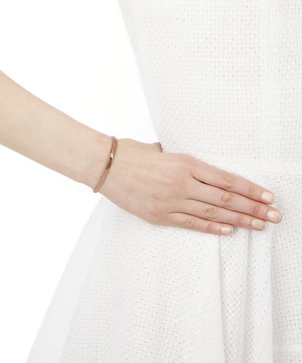 Rose Gold Vermeil Plum Cord Fiji Bracelet