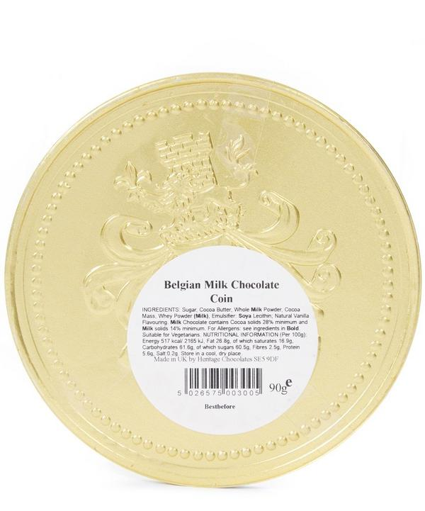 Large Gold Milk Chocolate Coin