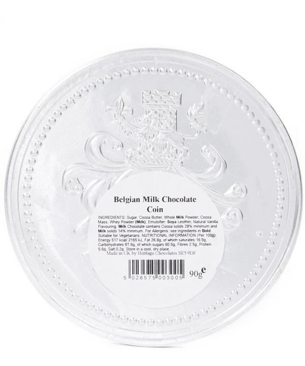 Large Silver Milk Chocolate Coin