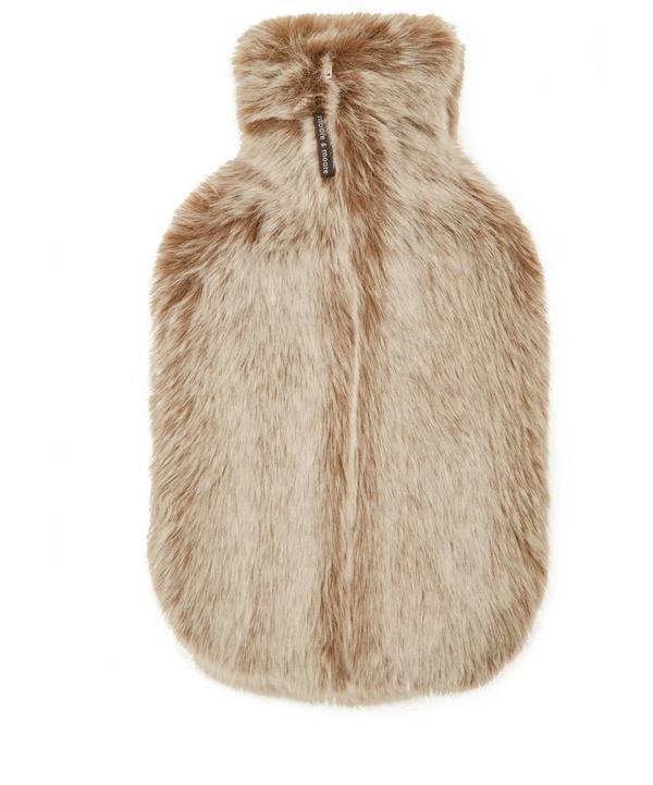 Latte Faux Fur Hot Water Bottle