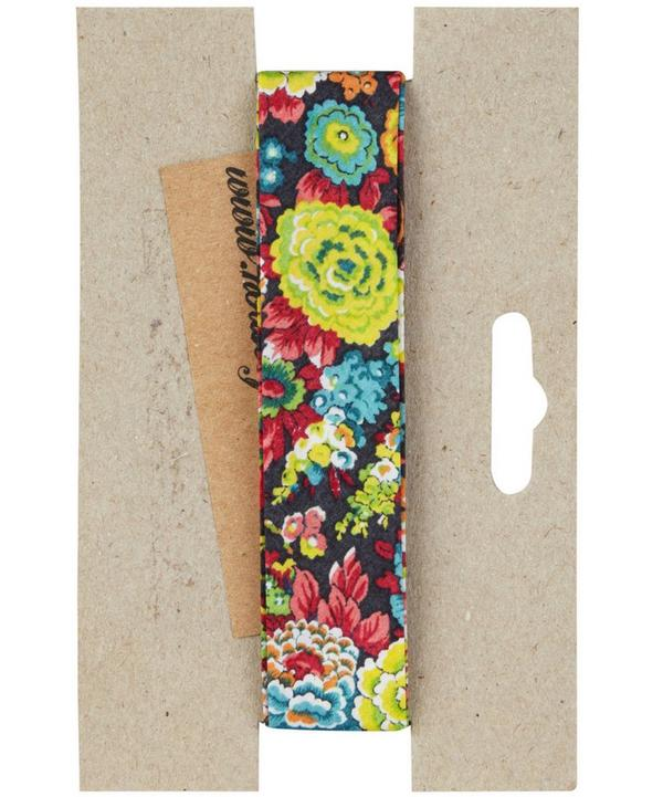 Turquoise Pepper Print Bias Binding
