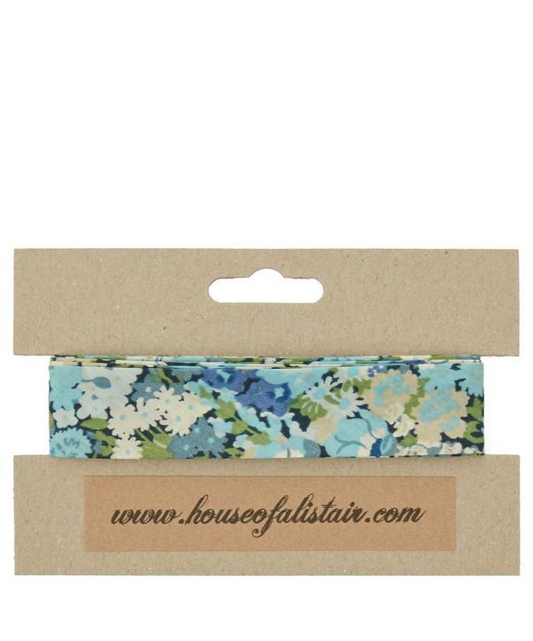 Turquoise Pepper Print Bias Binding