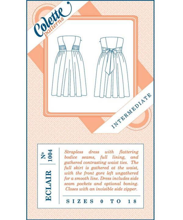 Eclair Strapless Dress Pattern