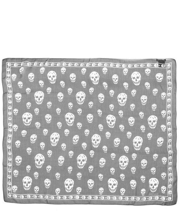 Skull Print Silk Scarf