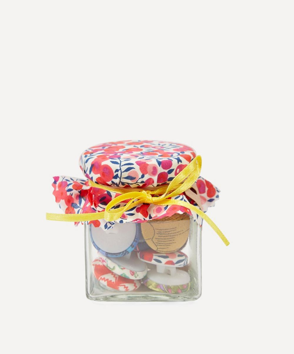 Floral Button Jar