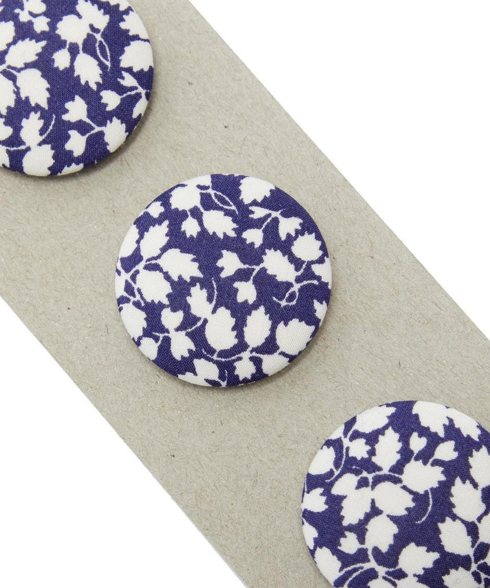 Three Berry Fabric Buttons on Card