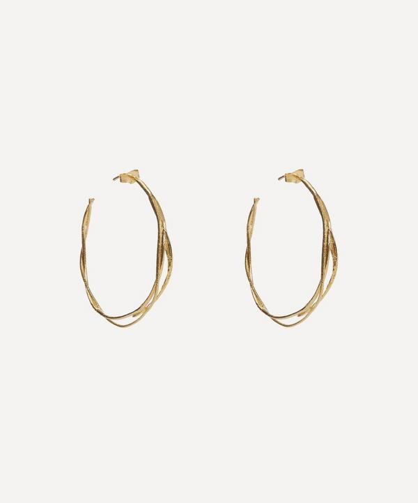 Gold Fine Twist Hoop Earrings