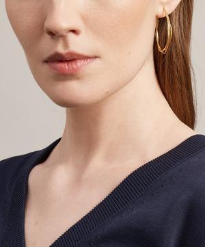 Gold Fine Twist Hoop Earrings