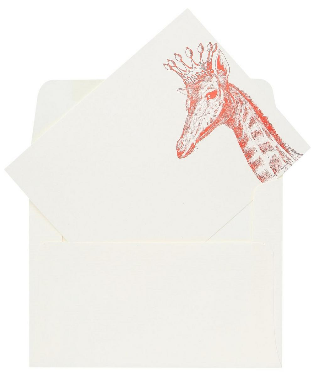 Royal Giraffe A6 Note Cards