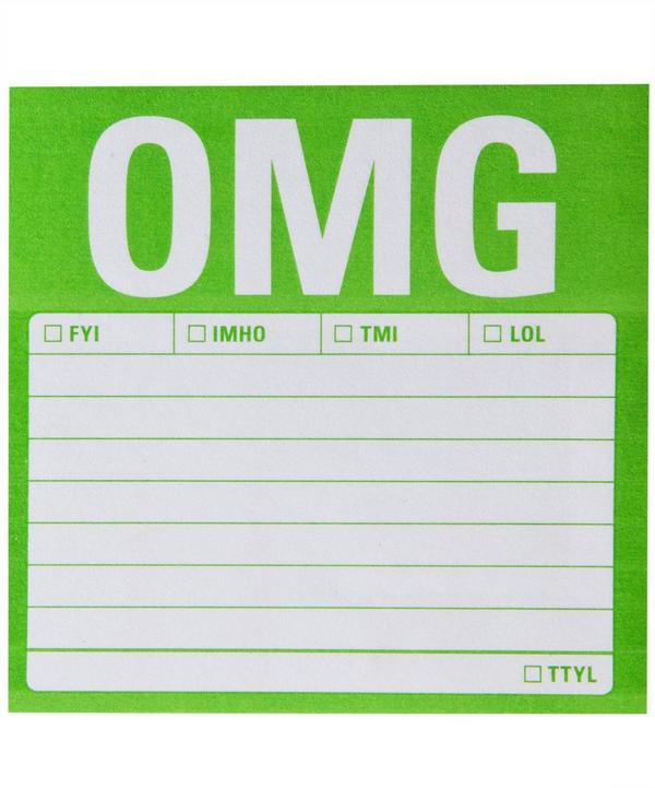 OMG Sticky Note Pad