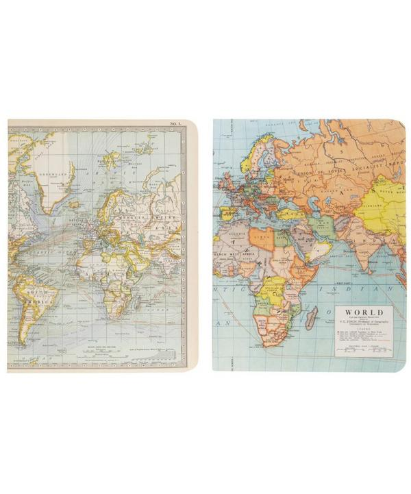 Vintage Map Notebook Set