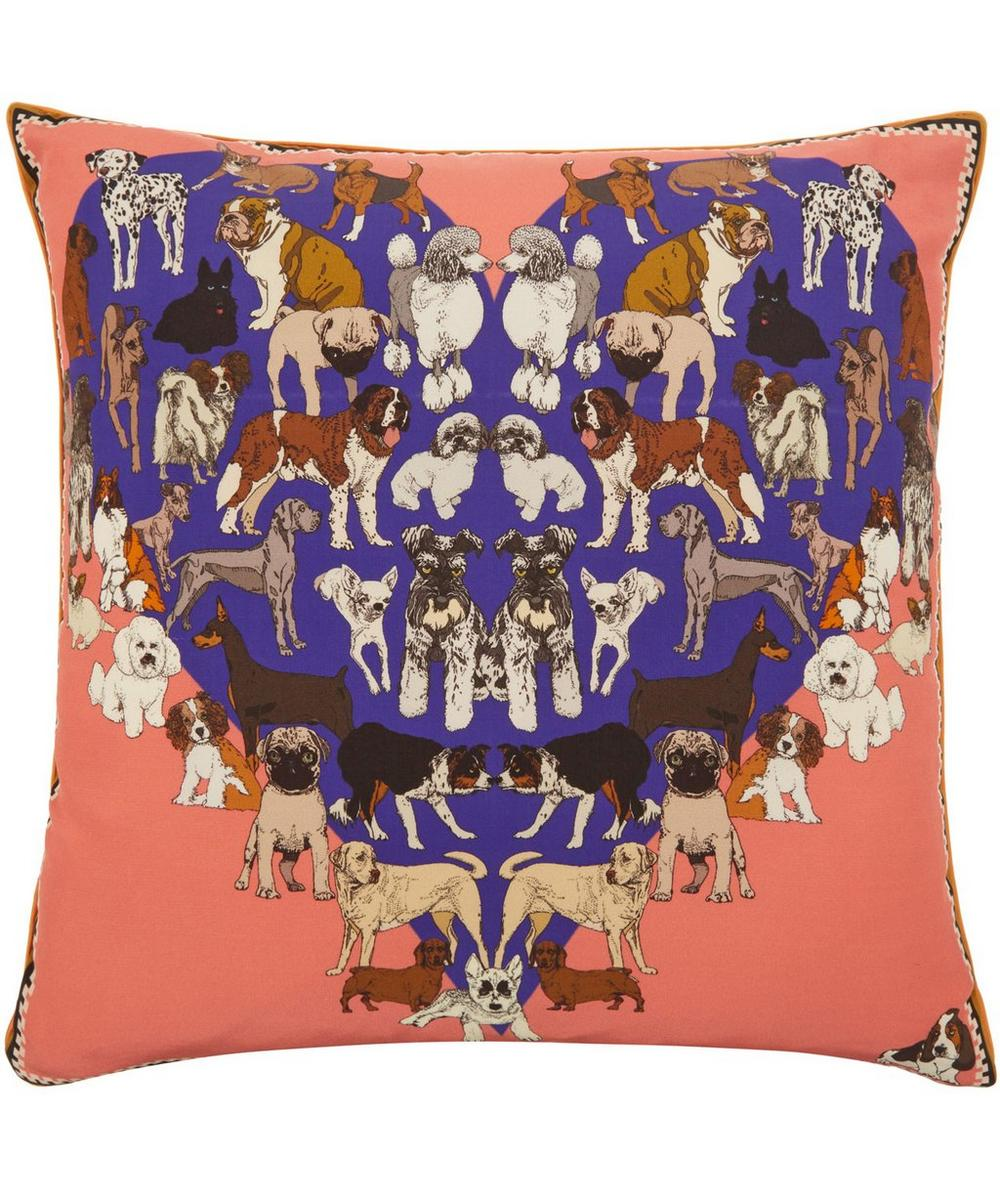 Puppy Passion Silk Cushion