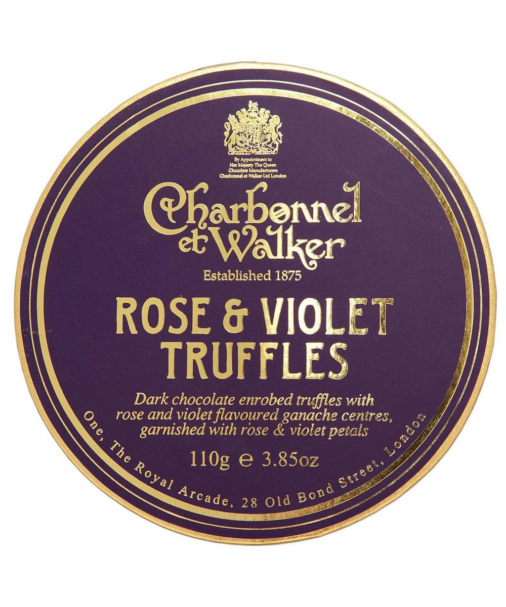 Rose and Violet Truffles