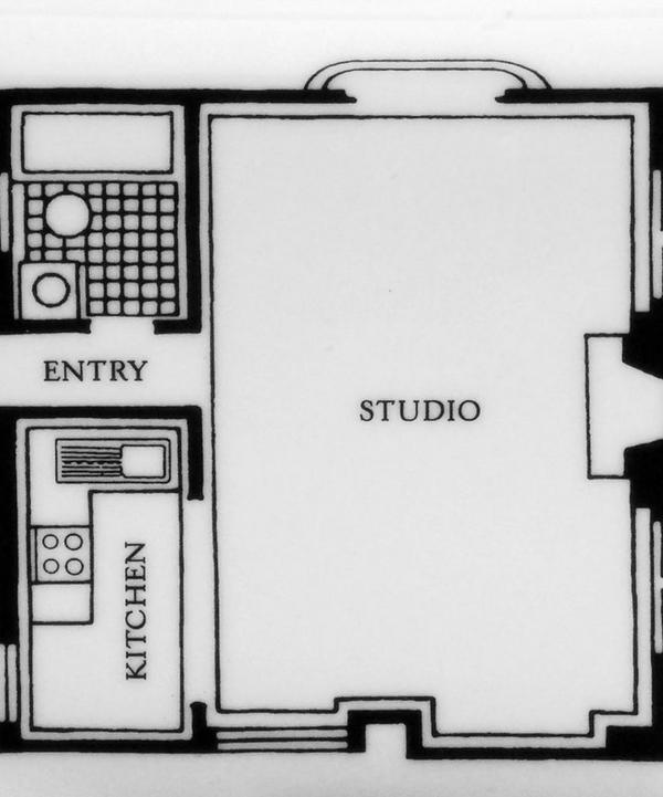 Floor Plan Studio Square Plate