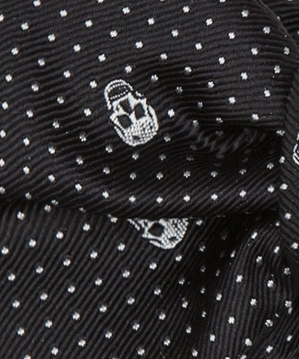 Skull Print Bow Tie