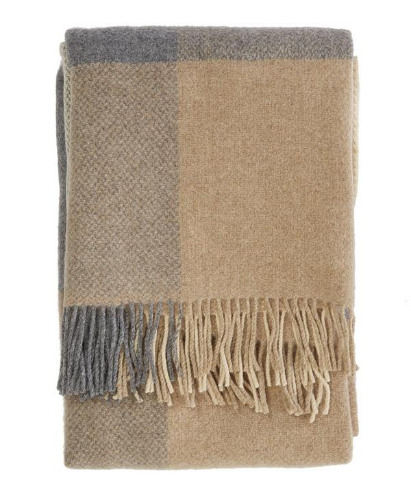 Check Merino Throw