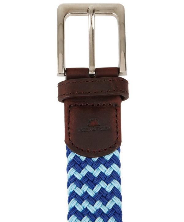 Blue Zig Zag Woven Belt, Tyler Tyler