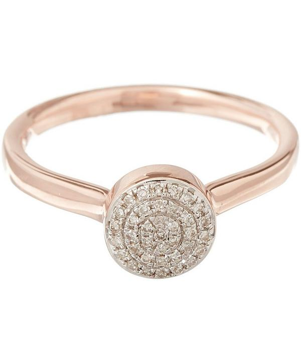 Rose Gold Vermeil Diamond Ava Button Ring