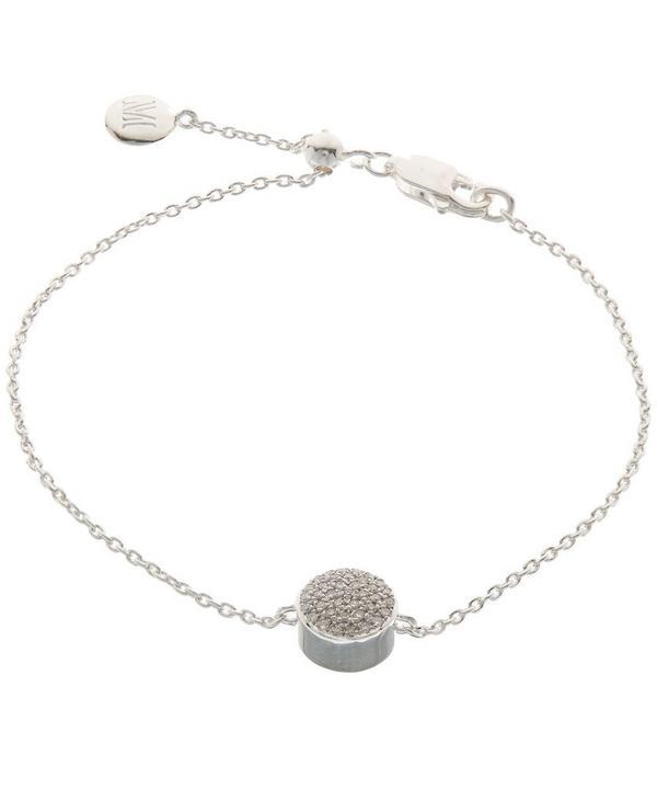 Silver Diamond Ava Button Bracelet