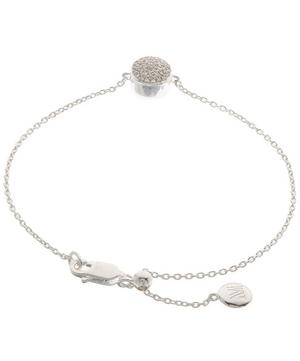 Silver Diamond Ava Button Bracelet