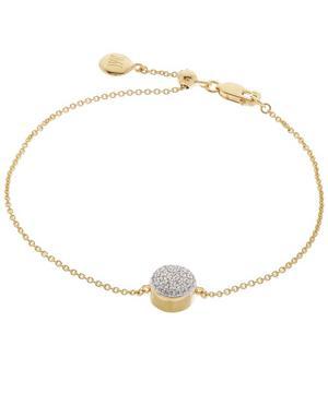 Gold Vermeil Diamond Ava Button Bracelet