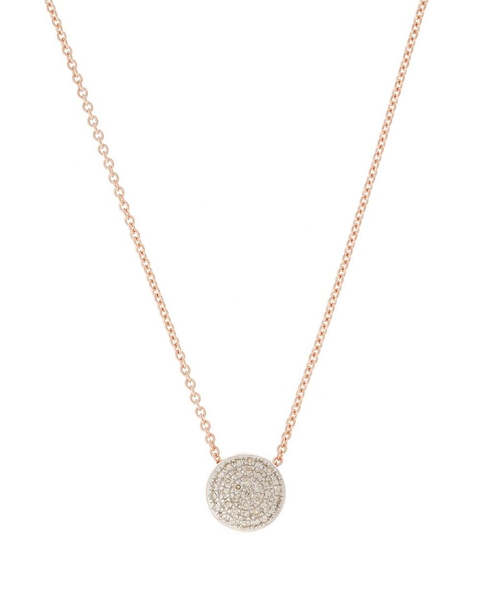 Rose Gold Vermeil Diamond Ava Button Necklace