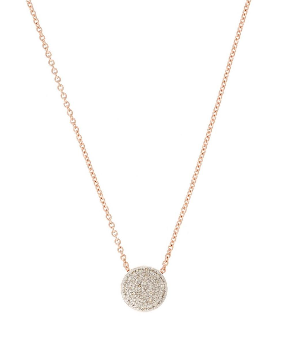 Rose Gold Vermeil Diamond Ava Button Necklace