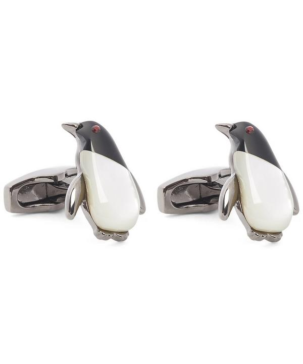 Mother-Of-Pearl Penguin Cufflinks