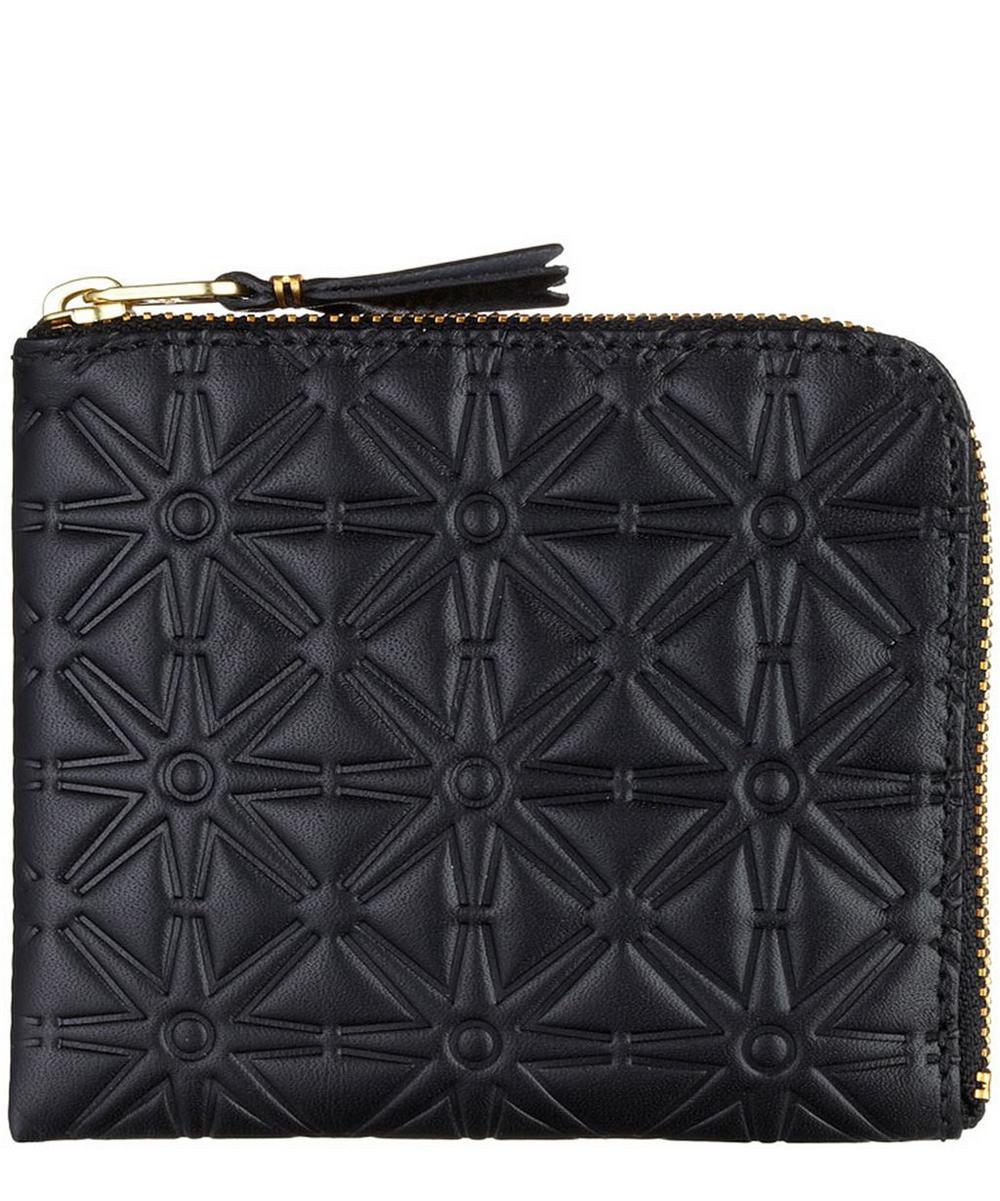 Black Debossed Leather Wallet